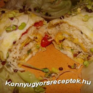 Sajtos csírás omlett recept