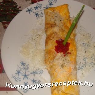 Sajtos sonkás omlett recept