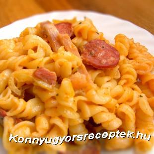 Laktató sonkás tészta recept