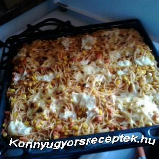 Kukoricás rakott spagetti recept