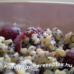 Diétás mákos meggyes bulgur recept
