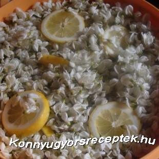 Akácvirág szörp recept