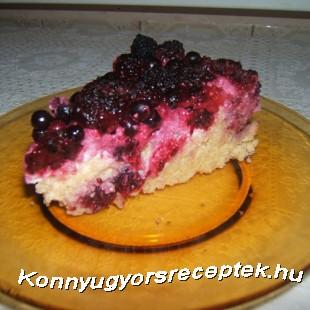 Gyümölcsös-túrós kölestorta recept
