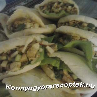 Házi gyros pitában recept