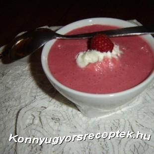 Vörösboros málnakrémleves recept