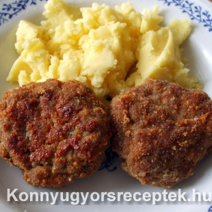 Fasírt krumplival recept