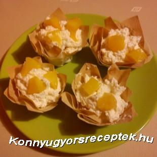 Mascarponés kosárkák recept