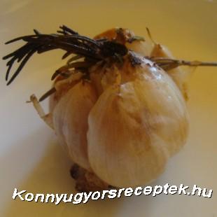 Sült fokhagyma recept
