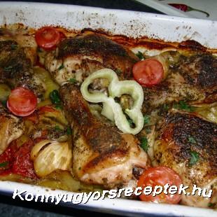 Görög csirke recept