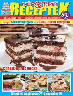 Népszerű receptek címlap