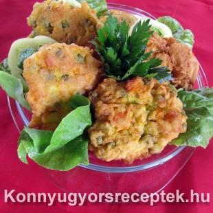 Zabpelyhes zöldségfasírt recept