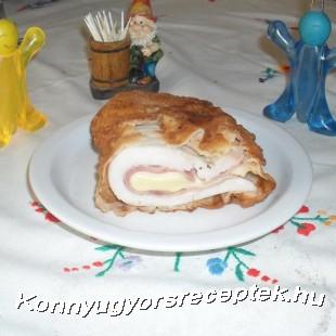 Lapkasajt bundában sült cordon bleu  recept