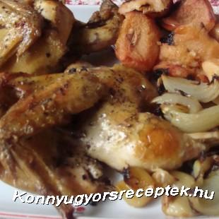 Birsalmával sült csirke recept