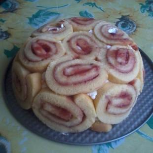 Charlotte torta recept