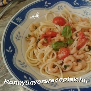 Garnélás spagetti  recept