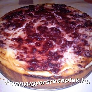 Klasszikus sajttorta meggylekvárral recept