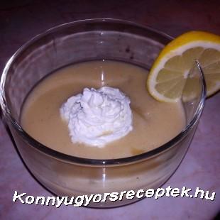 Pudingos-tejszínes almaleves  recept