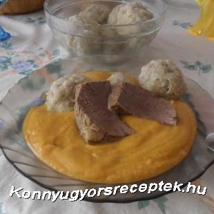 Vadas marhaszelet zsemlegombóccal  recept