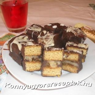 Marcipános csokis kocka recept
