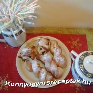 Nutellás csavart fánk recept