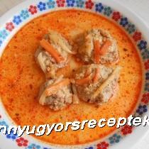 Tárkonyos húsgombócleves recept