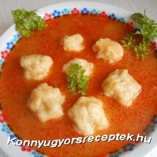 Krumpligombóc leves recept