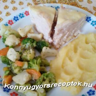 Csirkemell sajttal rakva recept