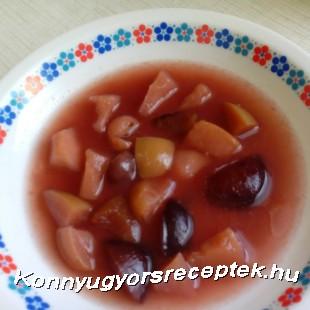 Vegyes gyümölcsleves recept