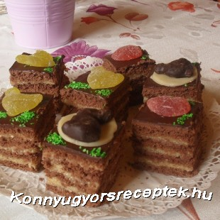 Húsvéti rumos csokis kocka recept