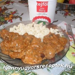 Bakonyi sertészelet  recept