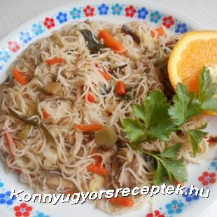 Kínai édes-savanyú egytálétel recept