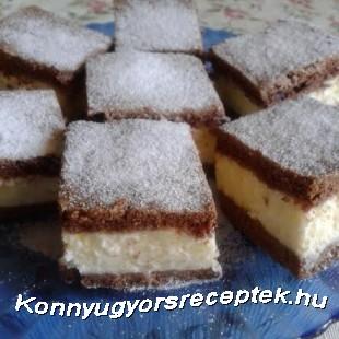 Tejfölös-pudingos csodasüti recept
