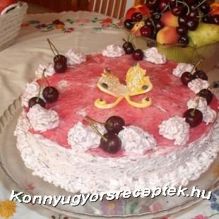 Meggyes joghurt torta recept
