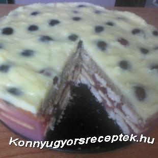 Meggyes pudingos torta recept
