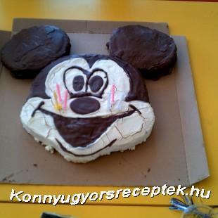 Citromos Mickey egér torta recept