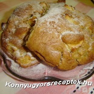 Fahéjas-almás puffancs recept
