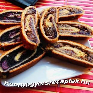Mákos - meggyes - diós - áfonyás - lekváros bejglik recept