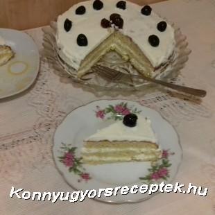 Citromos krémes kókusz lisztes torta recept