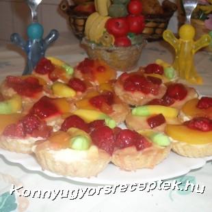 Gyümölcsös kosárka recept