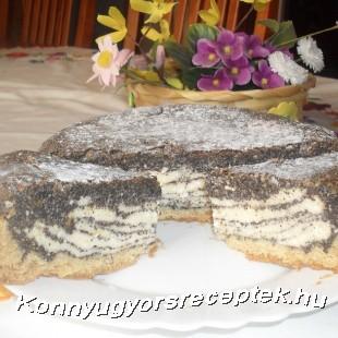 Mákos túró torta ( gluténmentesen) recept