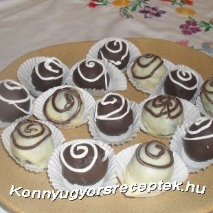 Rumos csokigolyók recept
