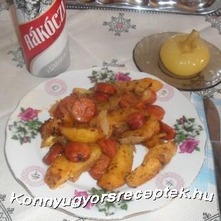 Tepsis -debrecenis burgonya recept