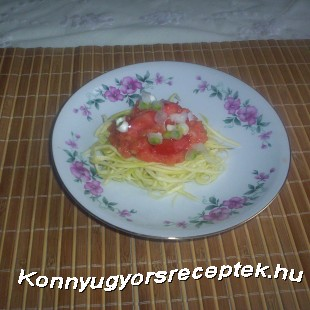 Vegetáriánus spagetti. recept
