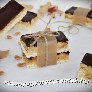 Snickers szelet recept