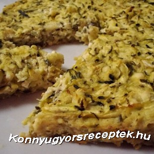Diétás cukkinis pite recept