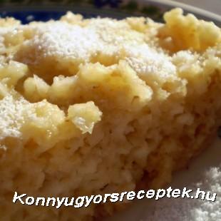 Diétás túrós-kókuszos süti mikróban recept