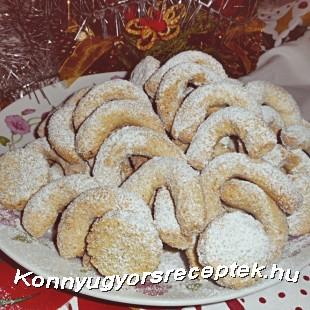 Diós,vaníliás kifli recept