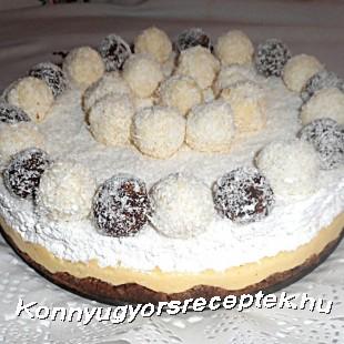Kókuszgolyó torta recept