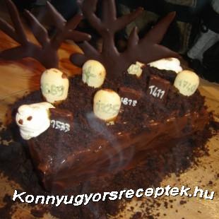 Halloween torta recept