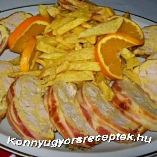 Őzgerincben sült csirke recept